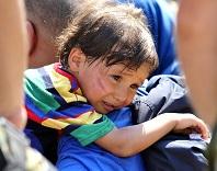 援助难民危机中的儿童